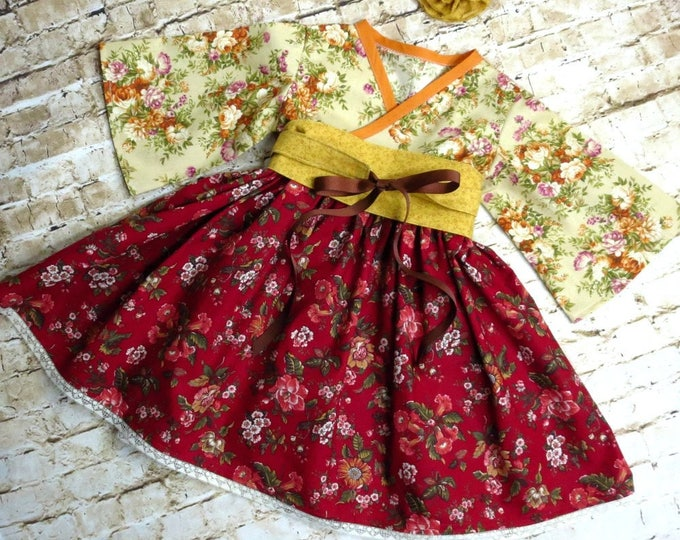 Featured listing image: Sweet Romance -Little Girls Dress - Lace Trim - Country Girl - Preteen Dress - Birthday Dress - Tea Party Dress  - sizes  12 mos to 14 yrs