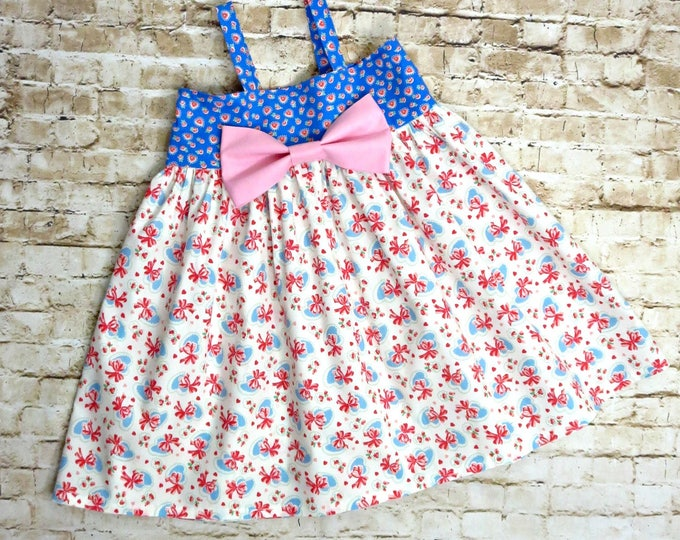 Photoshoot Dress - Big Bow Dress for Little Girls - Spring Dress for Baby - Toddler Summer Dress - Pink Dress - 1st Birthday  6 mos to 8 yrs