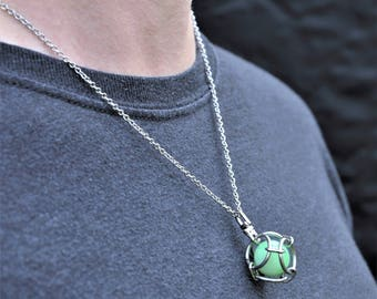 Caged Mint Marble Pendant