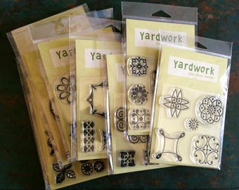 SALE - Any TWO stamp sets - Yardwork Clear Decor Stamps - Buy One Get Second Half Off
