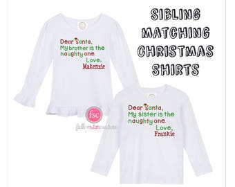 Sibling Matching Christmas Outfits