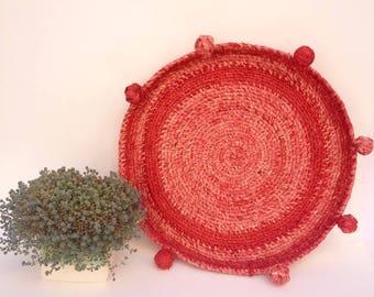 Woven wall basket, raffia basket, coiled basket, basket wall decor, wall art, round basket
