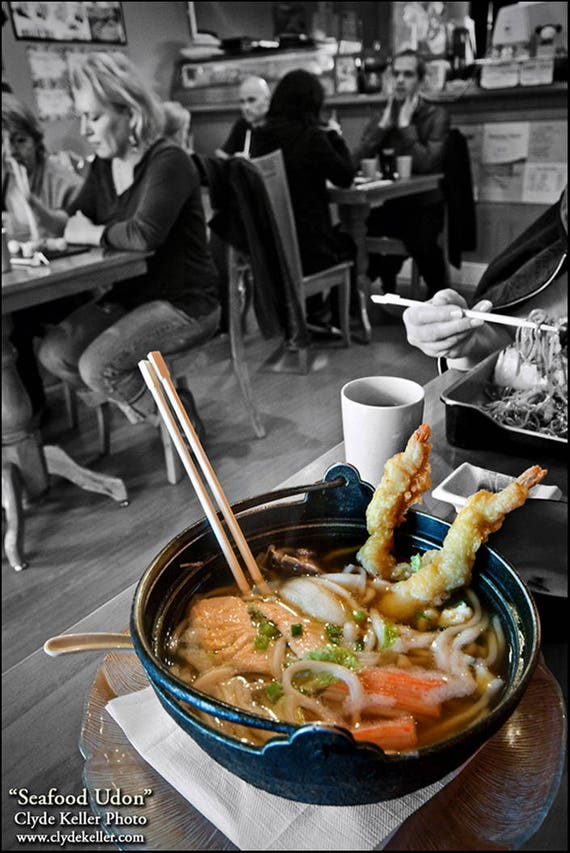 Akira restaurant, Vancouver BC, SEAFOOD UDON, Clyde Keller photo, 2008
