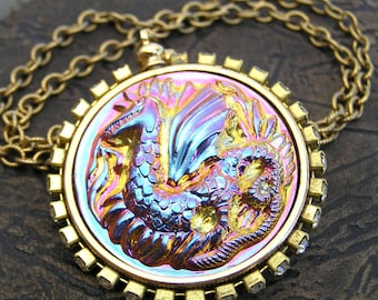 Dragon Necklace, Game of Thrones, Dragon Pendant