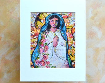 Our Lady of Guadalupe Catholic Wall Art Print, Blessed Mother, apparition to Juan Diego