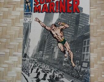 Vintage Sub-Mariner comic book Volume 1 No. 7 November 1968 Buscema Thomas Stan Lee Marvel Comics Prince Namor collectable super hero retro