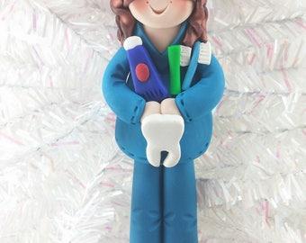 Dental Hygienist Gift - Dental Hygienist Christmas Ornament - Dental Assistant Ornament - Dentist Gift - Clay Christmas Ornament -8512