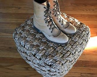 Vintage Tan Leather Laredo Calf Roper Cowboy Boots sz 7.5