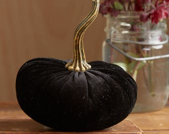 Scented Velvet Pumpkin, BLACK
