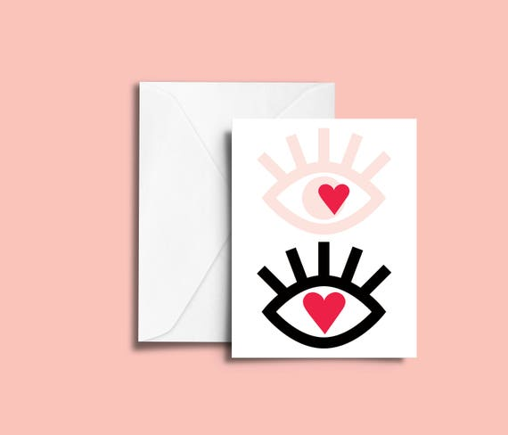 VALENTIN'S DAY Me and you // Valentine's day Card, Scandinavian Design, Pastel colors, abstract art