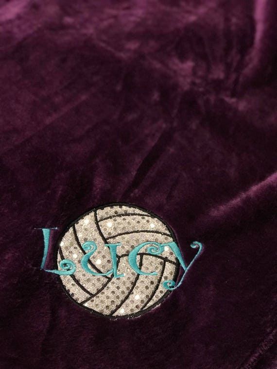 Blanket Microfiber Fleece Personalized Volleyball
