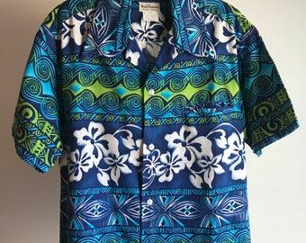Vintage Arnold Christensen Hawaiian Mens Shirt Medium