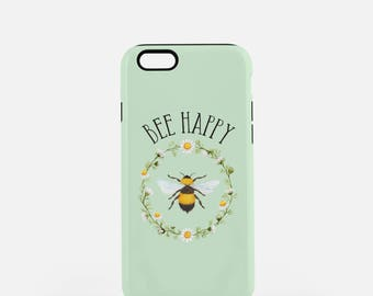 iPhone 7 Case, iPhone 7+ Case, Bee Phone Case, Funny Phone Case, Punny, Quirky, cute phone case, funny iPhone case, Bee Happy, Samsung