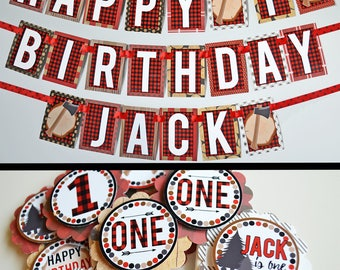 Lumberjack Birthday Party Decorations Fully Assembled | Lumber Jack Party | Lumber Jack Birthday | Wild One Birthday Party | Buffalo Plaid |
