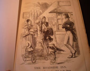 1855 - The Roadside Inn Lord Robert Grosvenor Punch Magazine Political Satire Victorian London - 8 x 10 in framable early cartoon