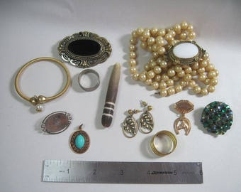 Lot of Vintage Jewelry for Repair or Re-purpose - Some Wearable - As Is