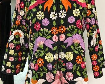 Vintage 1960s Floral Embroidered Jacket