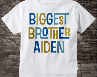 Boys Personalized Biggest Brother Tshirt or Onesie, Infant, Toddler or Youth sizes 12302013f1