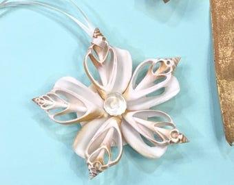 Seashell Christmas Ornament, Coastal Christmas Ornament, Beach Christmas Decor, Beach Decor, Sea Shell Ornament