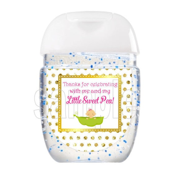 Printable Hand Sanitizer Labels Baby Shower Favor Labels