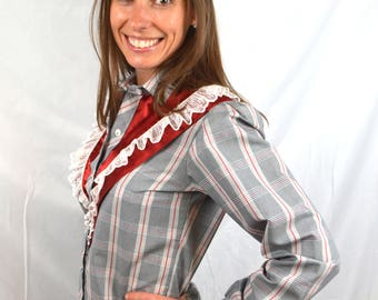 Vintage Kenny Rogers Women's Lace Karman Western Pearl Snap Shirt