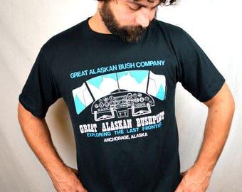 MATURE Vintage 1990 Great Alaskan Bush Company Tee Shirt Tshirt