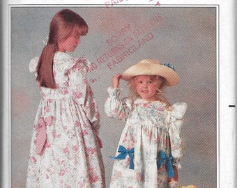 Uncut, Matching, Child Size 7-10, Doll Clothes, Vintage Sewing Pattern, Simplicity 5198, Holly Hobbie Fashion, Dress, Petticoat, Pants, Easy