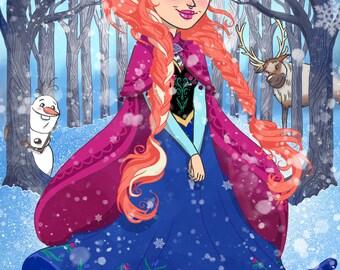 Ana Frozen A4 Print