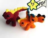 PDF Crochet Amigurumi Animal Pattern: Miniature Hydra, Dinosaur and Dragon Amigurumi/Plush Toy PATTERN