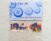 Micro Mini rond primaire de 3 mm boutons de robe il Up - paquet de 75 09/17