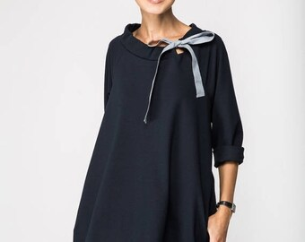 SALE - Classic dress | French dress | Deep Blue dress | LeMuse classic dress