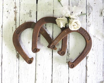 Vintage Horseshoes, Authentic Iron Horseshoe, English Horseshoe, Rusty Decor, Rustic Decor, Primitive, Industrial Decor, Lucky Horseshoe
