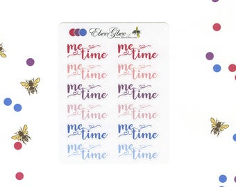 PURPLES & Pinks ME TIME Planner Stickers |  BeeColorful Rose Plum Periwinkle