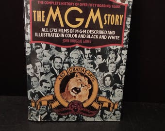 The MGM Story Coffee Table Vintage Book for Decor - Hardcover - Classic Movies Musicals Dance Films Movie Stars Hollywood