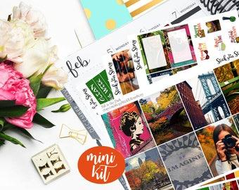 Fall in the Park Mini Weekly Planner Vertical Student Sticker Kit Glossy - Stick to Your Story