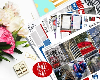 London Vacation Travel Photo Full Weekly Planner Vertical Student Sticker Kit Glossy - Stick to Your Story