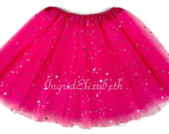 Hot Pink Tutu, Sparkle Tutu, Pink Toddler Tutu, Hot Pink Ballet Tutu, Pink Sparkle Tutu, Hot Pink Girls Tutu, Hot Pink Dance Tutu, Costume