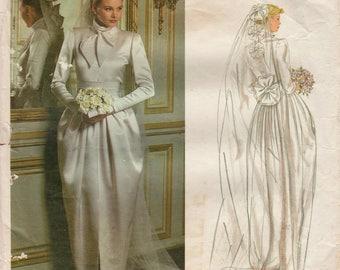 Vogue Paris Original 2545 / Vintage Designer Sewing Pattern By Christian Dior / Wedding Dress / Bridal Gown / Size 12 Bust 34