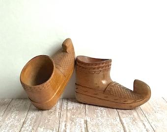 Opanci, Balkan Folk Dance Shoes, Wooden shoes, Souvenir from Yugoslavia
