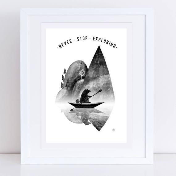 Canoe Bear 2017 - Signed print