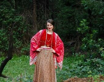 Wrap Skirt... Silk Skirt... Festival Skirt... Indian Skirt... Free Size... Plus Size