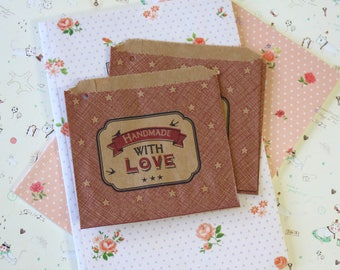 Handmade with Love 20pc Red Strung Mini Paper Bags