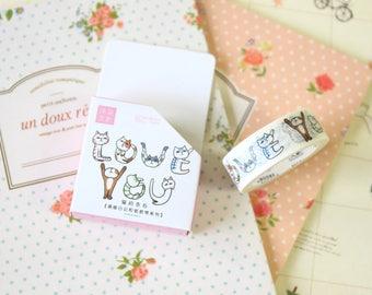 05 Moore Cartoon Cats washi masking tape