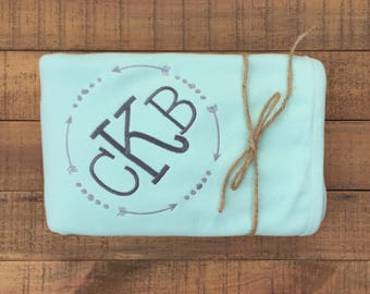 Baby Boy Gift - Baby Boy Blanket - Baby Boy Clothes - Personalized Baby Blanket - Monogram Baby Blanket - Baby Shower Gift