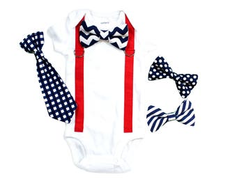 Baby Boy 4th of July. 4th of July Outfit. 4th of July Shirt. Patriotic Baby Clothes. Newborn 4th of July Outfit Modern Patriotic Chevron Red