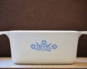 Casserole Dish/Cornflower Blue Corningware/1.5 Quart/P-4-B/Rectangle Dish/Baking Dish/Oven Dish/Corning Ware/1957-1988