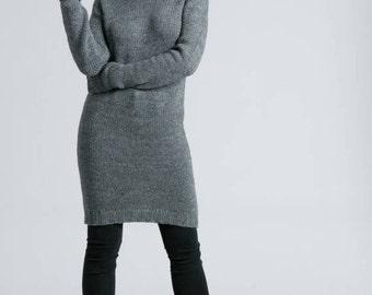 Sweater Dress / Turtleneck Dress / Long Sleeve Dress / Midi Dress / Wool Dress / Winter Dress / marcellamoda k - MD791
