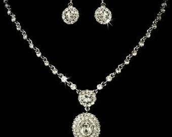 Bridal Jewelry Set Crystal and Pearl