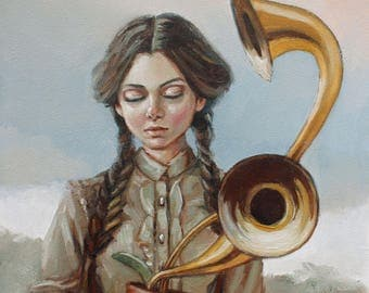 Nature's Music. Signed Print of an Original Oil Painting
