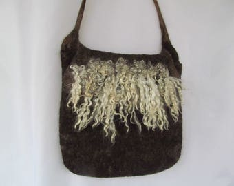 Hand felted Bag with Locks